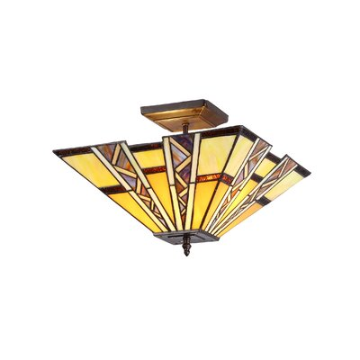 Charlotte 2-Light Progressive Semi Flush Mount