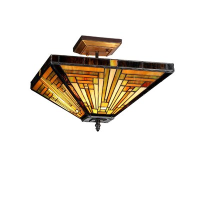 Charlotte 2-Light Semi Flush Mount