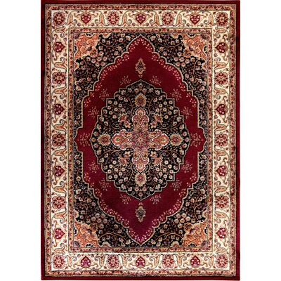 Caterina Red Area Rug Rug Size: 37 x 52