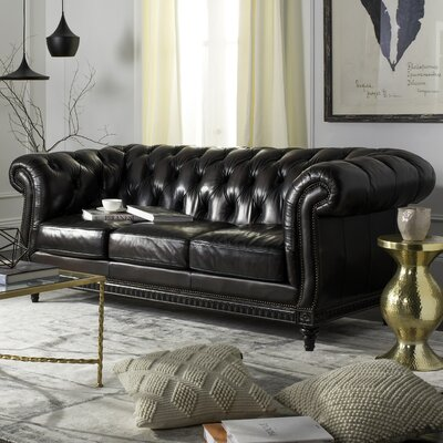 Shoreham  Leather Chesterfield Sofa