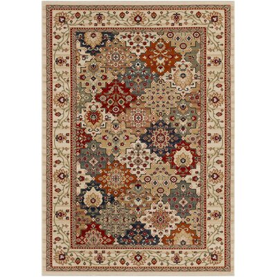 Wynn Beige Area Rug Rug Size: Rectangle 5 3 x 7 6