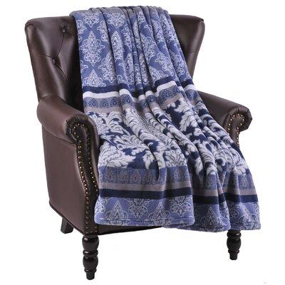 Bently Microfiber Flannel Blanket Color: Estate Blue