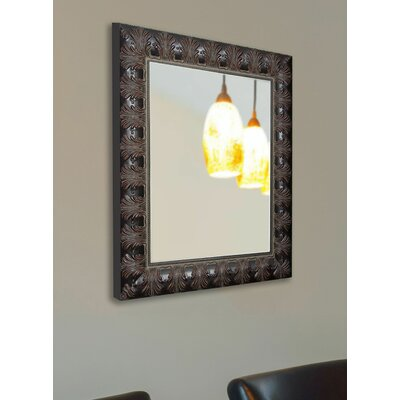 Rectangle Mahogany Classic Feathered Wall Mirror Size: 27.5