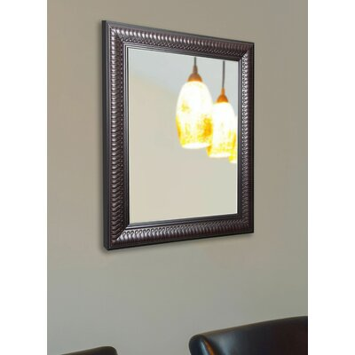 Rectangle Mahogany Curve Wall Mirror Size: 26
