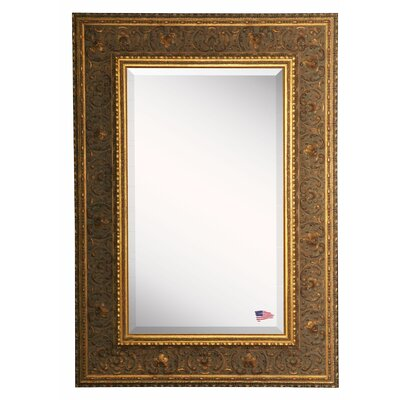 Gold-Hued Opulent Wall Mirror
