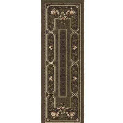 Estela Green/Black Area Rug