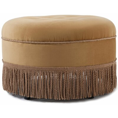Opehlia Decorative Round Ottoman Upholstery: Gold