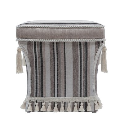 Grace Traditional Pedestal Striped Ottoman