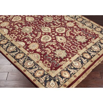 Barlett Burgundy Rug Rug Size: Rectangle 5'6