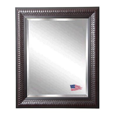Rectangle Dark Mahogany Beveled Wall Mirror Size: 25