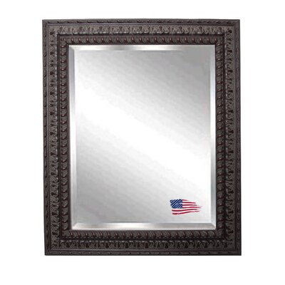 Rectangle Wood Embellished Wall Mirror Size: 26.5