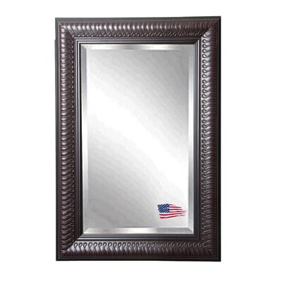 Rectangle Royal Mahogany Beveled Slim Wall Mirror