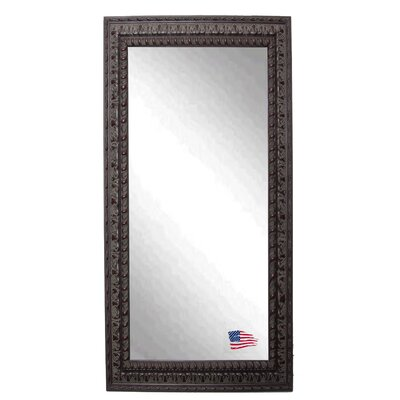 Rectangle Mahogany Embellished Floor Mirror