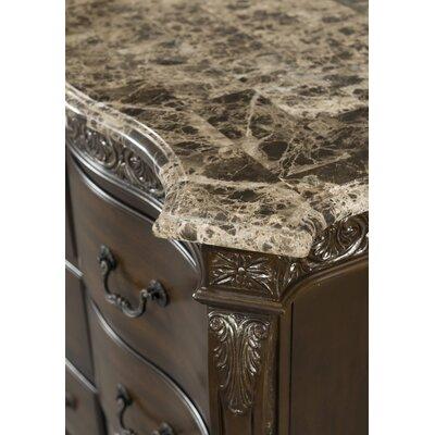 Vista 9 Drawer Marble Top Dresser
