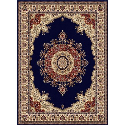 Clarence Navy/Blue Area Rug Rug Size: Rectangle 11 x 15