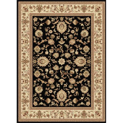 Clarence Black/Beige Area Rug Rug Size: Rectangle 11 x 15