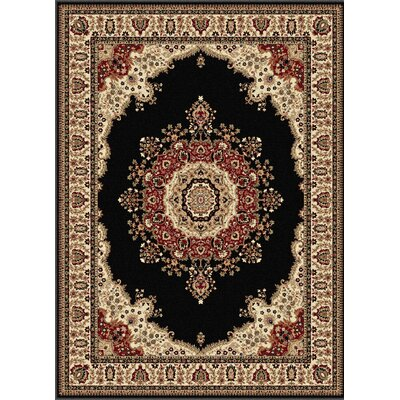 Clarence Beige/Red/Jet black Area Rug