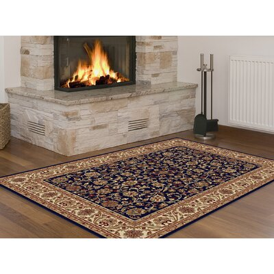 Clarence Navy/Beige/Gold Area Rug