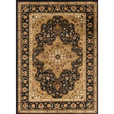 Sacha Black/Beige Area Rug Rug Size: Rectangle 93 x 126