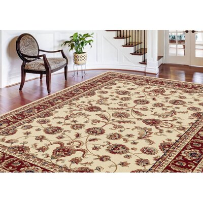 Clarence Beige/Red/Blue Area Rug