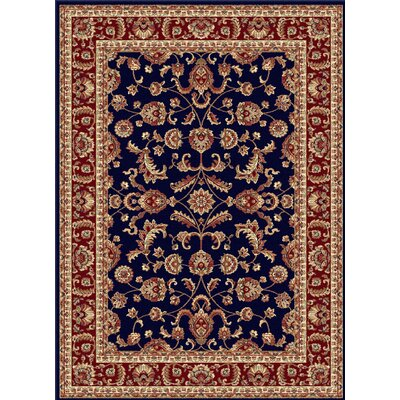 Clarence Navy Blue/Red Area Rug Rug Size: Rectangle 11 x 15