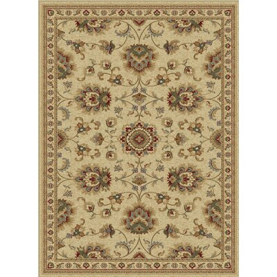 Clarence Scarlet/Fawn Beige/Bone Ivory Area Rug