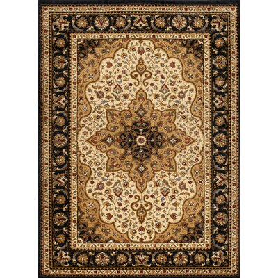 Sacha Ivory Area Rug Rug Size: Rectangle 93 x 126