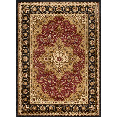 Sacha Red/Beige/Black Area Rug Rug Size: Rectangle 5 x 7
