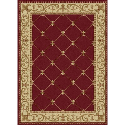 Clarence Red Area Rug Rug Size: Rectangle 11 x 15