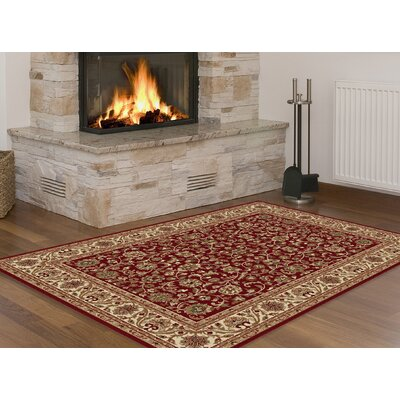 Clarence Red/Ivory/Gold Area Rug