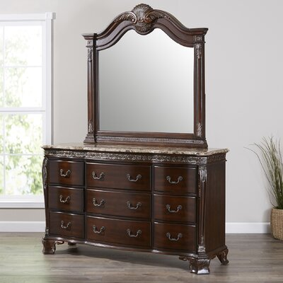 Vista 9 Drawer Dresser with Mirror