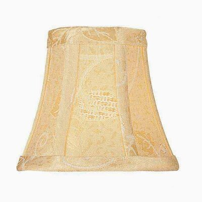 6 Fabric Bell Candelabra Shade Size: 3T x 6B x 5SL