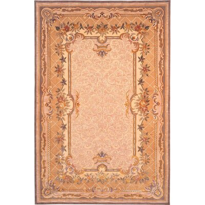 Beckon Hand-Knotted Wool Orange Indoor/Outdoor Area Rug Rug Size: Rectangle 6 x 9