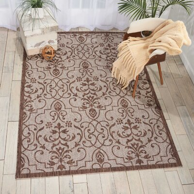 Bedervale Natural Indoor/Outdoor Area Rug Rug Size: 36 x 56