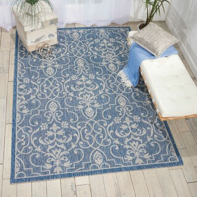 Bedervale Denim Indoor/Outdoor Area Rug Rug Size: Rectangle 53 x 73