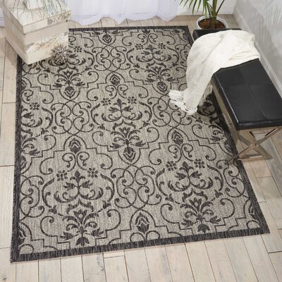 Bedervale Ivory/Charcoal Indoor/Outdoor Area Rug Rug Size: 96 x 13