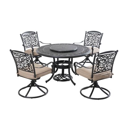 Trent 7 Piece Dining Set with Cushions