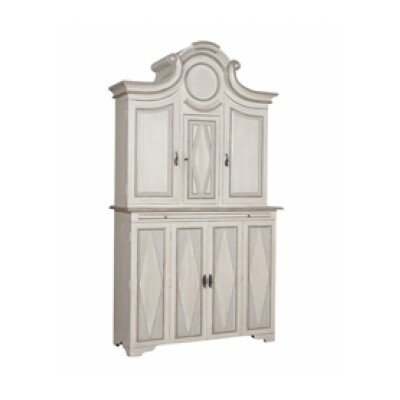 Belina Floor Wine Cabinet Finish: Manor White Wash
