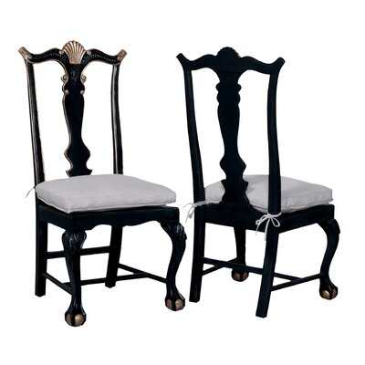 Arthurson Side Chair Finish: Black Wood Grain