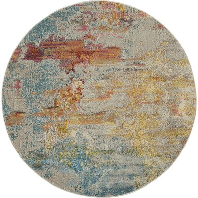 Barrie Sealife Area Rug Rug Size: Round 710