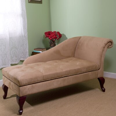 Gladstone Storage Spa Chaise Lounge Upholstery: Tan