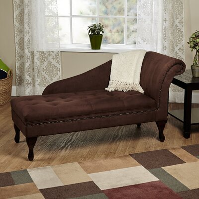 Gladstone Storage Spa Chaise Lounge Upholstery: Chocolate