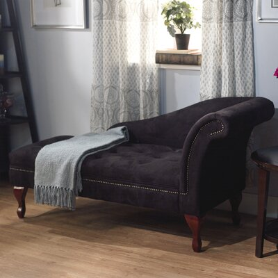 Gladstone Storage Spa Chaise Lounge Upholstery: Black