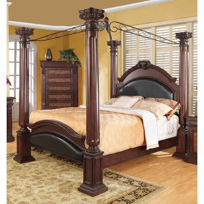 Fechteler Upholstered Canopy Bed Size: California King
