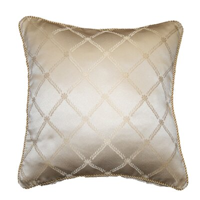 Bedford Crescent Design Decorative Pillow Cover Color: Beige
