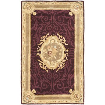 Bedgood Royal Maroon Beige Area Rug Rug Size: 4 x 6