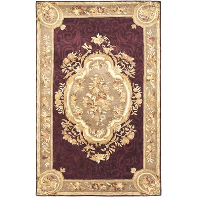 Bedgood Royal Maroon Beige Area Rug Rug Size: Rectangle 5 x 8