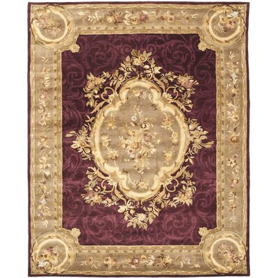 Bedgood Royal Maroon Beige Area Rug Rug Size: Rectangle 8 x 10