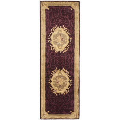Bedgood Royal Maroon Beige Area Rug Rug Size: Runner 26 x 8
