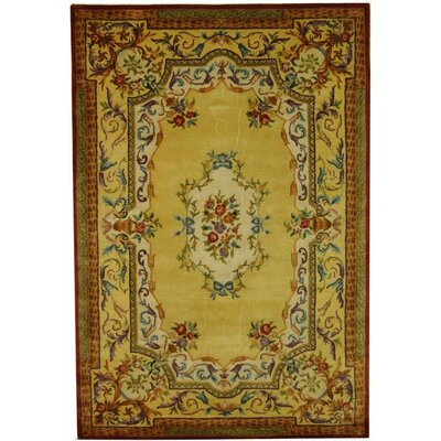 Bedgood Gold Area Rug Rug Size: 4 x 6